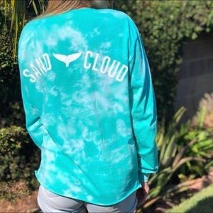 NWOT Sand Cloud Tie Dyed T-Shirt Teal